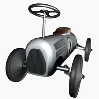 3d model tin peddle car