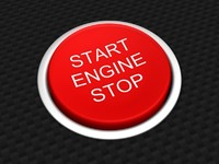 car start stop button 3d model