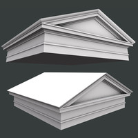 pediment architrave 3d model