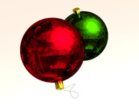 3d christmas tree baubles