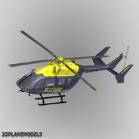 eurocopter ec-145 uk police 3d model
