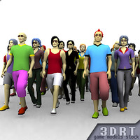people avatars characters 0 3d model