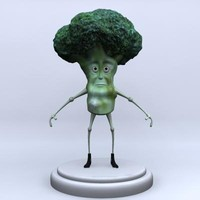 broccoli character modeled 3d model