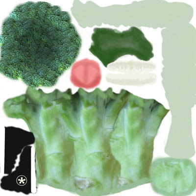 broccoli character modeled 3d model - Broccoli Character Model... by zbavas