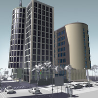 3d max urban block buildings