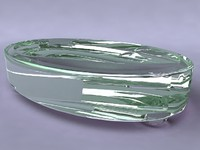3d crystal glass soap dish