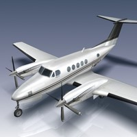 king air b200 aircraft 3d model