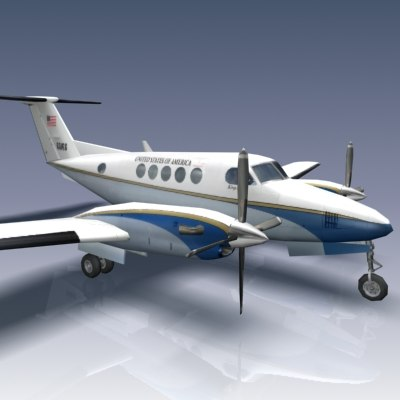 king air b200 aircraft 3d model - Beechcraft King Air B200/USAF C-12 Huron... by Bounding Box