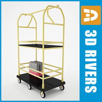 Luggage cart03 by 3DRivers
