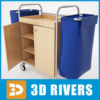 housekeeping cart 3d model
