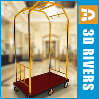 Luggage cart 04 by 3DRivers