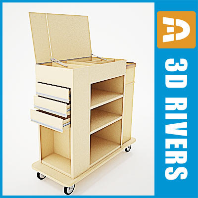 Housekeeping cart 03 by 3DRivers