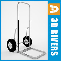 3d luggage cart model