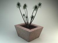 3d yucca plant planter
