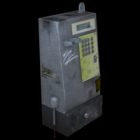 3d payphone pay phone model