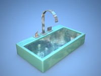 3ds max sink modern bathroom