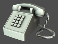 3d model telephone office