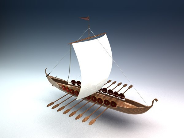 viking war ship 3d lwo - Viking Ship... by MyNameIsJames