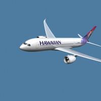 a350-800 hawaiian 3d max