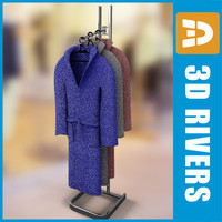 Bathrobes on rack by 3DRivers