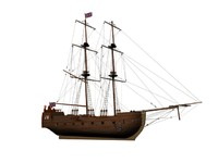 rigged ship 3d model