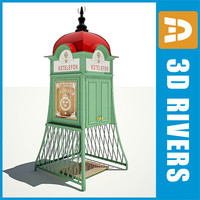 3d obj old pay phone