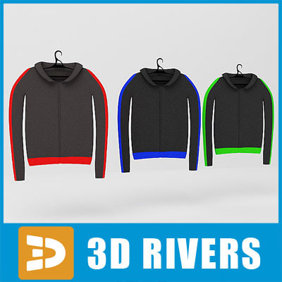 3ds max sweatshirts set clothes - Sweatshirts set  by 3DRivers... by 3DRivers
