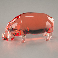 glass hippo