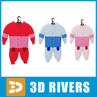3d kids set clothes