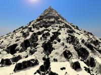 mountain scene hills 3d model