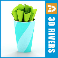 Paper cup with napkin by 3DRivers