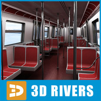 r68 train interior subway 3d max