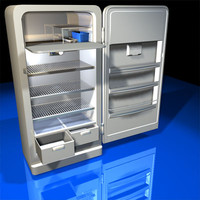 refrigerator retro 01 frig 3d model