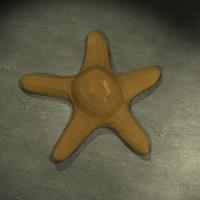 3d sea star model