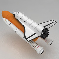 3ds max space shuttle