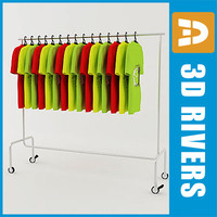 3ds max retail clothing rack