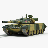 3d chinese type 98 battle tank model