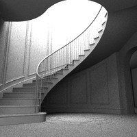 custome stair 3d max