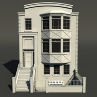3d model tileable brownstone unwrapped