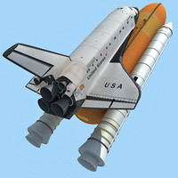 3d model nasa space shuttle columbia