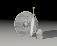 shield steel helmet 3d model