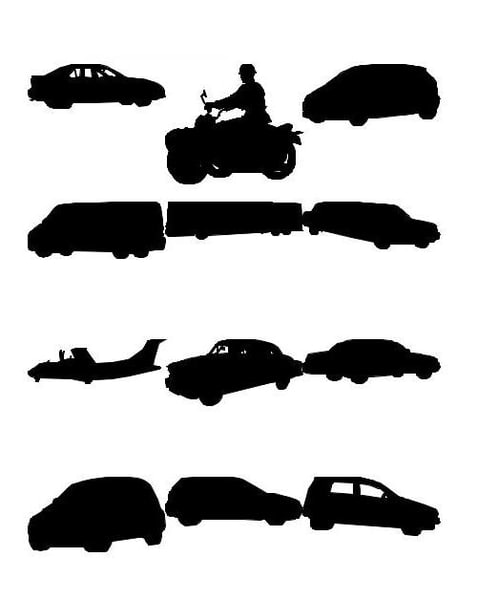 vehicle silhouettes 3ds - Vehicle figure silhouettes... by commoncube
