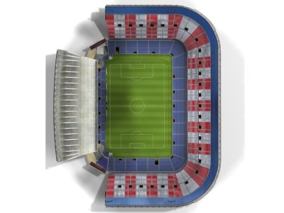 vicente calderon stadium 3d model - Vicente Calderon Stadium.zip... by RebelArt