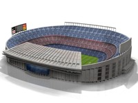 3d model camp nou stadium