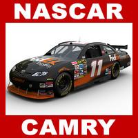 3d car nascar camry denny model