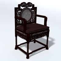 3ds max antique wooden chair