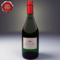 champagne bottle bonnaire 3d model