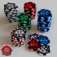 3d model casino chips check