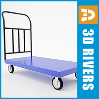 3d model luggage cart