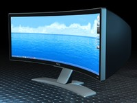 3d model of nec curved display